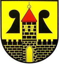 1898 vom königlich-sächsischen Ministerium geprüftes und genehmigtes Wappen der Stadt Rochlitz