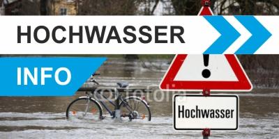 Button Hochwasser Info